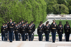 Amtrak Police Wreath Laying Ceremony April 25, 2016 (3d U.S. Infantry Regiment (The Old Guard)) Tags: old cemetery infantry arlington soldier us washington 3d district military tomb guard ceremony wreath amtrak national unknown laying regiment the