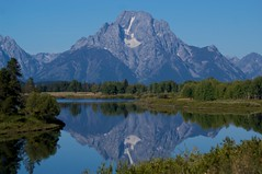 Mount_Moran_Eagle Reflection_PICT0904 (Clydeart) Tags: travel blue usa mountain reflection nature river moran