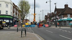 Whitton High Street 24-4-2016. (DepotCat02) Tags: crane southwesttrains whitton networkrail heavylift ainscough whittonhighstreet ainscoughcranehireltd whittonstation