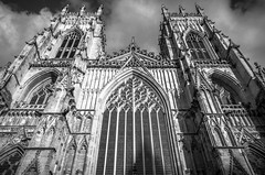 York - The Minster (joeoswinphoto) Tags: york blackandwhite bw building monochrome architecture yorkshire yorkminster minster