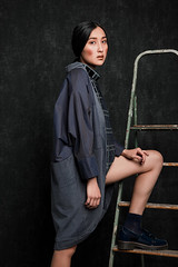 Stephanie Kahnau - Dorian Gray collection (andi.schoppel) Tags: portrait sabrina fashion dark hair studio munich mnchen asian photography grey design photo outfit model chair nikon fotografie photoshoot designer picture makeup andreas clean collection talent agency stephanie editorial shooting ladder henne mode tapete stefanie birgit assistant d800 haare lookbook edgy russion schoppel reuschl kahnau heinzeller