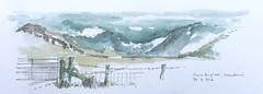 Cwm Eigiau (jamesdyson) Tags: mountains wales pencil fence sketch gate dam watercolour snowdonia carneddau cwmeigiau penyrhelgidu penllithrigywrach craigeigiau
