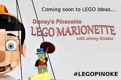 Coming soon to LEGO Ideas... (buggyirk) Tags: classic lego disney cricket walt ideas pinocchio jiminy minifigure moc disneys afol pinoke buggyirk jiminyc legopinoke