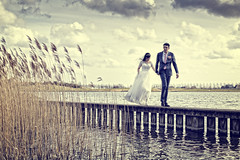 Wedding (siebe ) Tags: wedding holland water netherlands dutch vintage landscape groom bride scenery couple outdoor scene bruiloft steiger 2016 bruidspaar bruid trouwreportage bruidsfotografie bruidsfoto siebebaardafotografie wwwmooietrouwreportagesnl