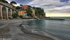 Calma apparente (Maurizio Longinotti) Tags: sea sky italy panorama seascape beach clouds italia nuvole mare liguria cielo spiaggia paesaggio zoagli marligure calmaapparente golfodeltigullio