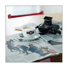 New York [Saturday morning] (Istvan Penzes) Tags: newyork digital dof mf cappuccino manualfocus hasselblad503cw carlzeissplanar2880 leicam9 penzes hasselbladcfv50c