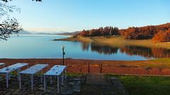 Λιμνη Πλαστηρα P1150499 (omirou56) Tags: sky lake reflection nature water landscape europe natur natura greece 169 γαλαζιο ελλαδα αντανακλαση δεντρα νερο ελλασ ουρανοσ ευρωπη φθινοπωρο λιμνηπλαστηρα panasoniclumixdmctz40 νοεμβρησ