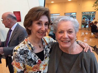 Miami Herald food critic Linda Gassenheimer and Ruth Shack at the Arsht center jazz roots concert