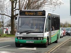 GHA Coaches YJ54 ZYB (North West Transport Photos) Tags: bus solo 200 t3 terminal3 manchesterairport airportbus optare gha optaresolo ghacoaches cheshireconnect yj54zyb