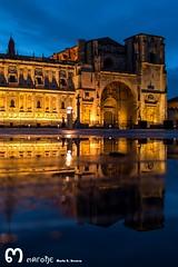 Parador de San Marcos (Len) (ma_rohe) Tags: reflection night puddle reflejo puddles nightphotograpy reflejos reflects charco charcos paradordesanmarcos leonesp