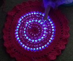 Ms Night light on (Dokuro3Chan) Tags: pink baby kids handmade crochet led nightlight rug watg ledrug lightrug