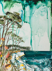 LS18X24-2016-111 (Justin Gaffrey) Tags: trees lake art nature water painting artist waves florida coastal pines wildflowers acrylicpaint seaoats 30a lakescape westernlake sowal justingaffrey