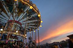 Parisienne Carousel (.mushi_king) Tags: city paris france tower night europe fairground dusk eiffeltower carousel fair eiffel toureiffel