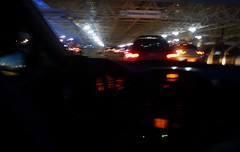 the endless journey (*F~) Tags: city light brazil urban cars braslia night airport traffic taxi journey departures impression arrivals endless