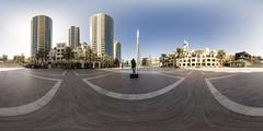Downtown Dubai @ 360 (jeglikerikkefisk) Tags: panorama sun downtown dubai pano uae bluesky sonne blauerhimmel 360 sphericalpanorama vae equirectangular kugelpanorama downtowndubai sphrischespanorama