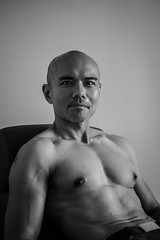 IMG_1441 (Zefrog) Tags: uk portrait bw man london pecs asian topless johann zefrog