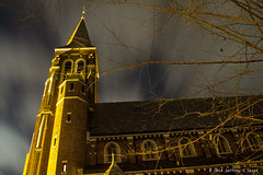 St. John's with Clouds Streaking (Jeff Skott) Tags: landscape december kentucky ohioriver covington stjohnschurch lighttrail 2015 ohioriver2015