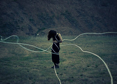 Burdened; 2016 (Laurene Smith) Tags: selfportrait fineart rope faceless tied conceptual blackdress