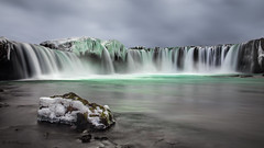 La chute des dieux (R - P Photography) Tags: winter snow green ice rock waterfall iceland god turquoise hiver north vert neige cascade blanc rocher myvatn nord glace islande godafoss