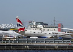 London City Airport (Flame1958) Tags: travel vacation holiday flying rj britishairways londoncityairport londoncity businesstravel 2016 0416 cityairport rj85 cityjet cityflyer 200416 bacityflyer glcyj glcys
