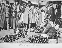 Baghdad Fruit Market (Terterian - A million+ views, thanks.) Tags: fruit vintage photography book commerce market photos brothers photographic fez views baghdad times plates collectible trade rare abdul 1925 studies kerim basra irag basrah bartering bygone hasso cemera