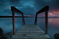 (rejophoto) Tags: bridge sunset sea cloud colour nature landscape skne sundown sweden natur sverige solnedgng landskap brygga sj moln ivsjn bromlla