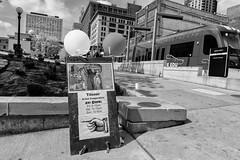 StPaulArtCrawl2016_46303-.jpg (Mully410 * Images) Tags: blackandwhite monochrome sign train balloons stpaul 2016 metrotransit uniondepot artcrawl niksilverefexpro