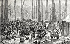 """""""Starvation Camp: Serving Out Milk and Butter for Broth."""" From """"In Darkest Africa"""" by Henry M. Stanley. NY: Scribner's, 1890. (lhboudreau) Tags: africa trees tree expedition illustration forest book exploring explorer illustrations books adventure jungle stanley adventures explorers starvation broth 1890 bookart henrystanley africans hardcover natives firstedition vintagebook expeditions antiquebooks antiquebook vintagebooks africancontinent scribners classicbook hardcovers classicbooks hardcoverbooks blackafrican darkcontinent hardcoverbook charlesscribnerssons thedarkcontinent charlesscribners blackafricans indarkestafrica henrymstanley starvationcamp africanexpedition milkandbutter servingmilkandbutter africanexpeditions"""