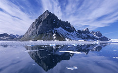 SmallWorlds Ice mountain 1 (jazmineriverss) Tags: mountain seascape reflection norway landscape arctic spitsbergen