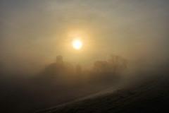 silhouette (Raul-64) Tags: house fog sunrise landscape casa alba nebbia paesaggio