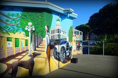 Facilities With A View (gec21) Tags: newzealand mural panasonic nz napier hawkesbay 2015 dmctz20