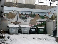 ICE mural broken train station Herford Germany 26th January 2014 snow  26-01-2014 15-34-24 (dennoir) Tags: snow ice broken station train germany mural january herford 26th 2014 153424 26012014