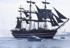 Amerigo Vespucci (larry_antwerp) Tags: port sailing ship belgium belgi vessel 1993 antwerp schelde  antwerpen  schip     amerigovespucci                               eurosail93 thecuttysarktallshipsrace