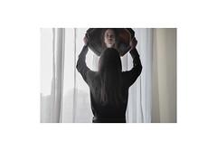(Milvia Lapucci) Tags: light portrait reflection face wall mirror eyes shadows parquet longhair tent backnfront