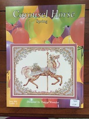 Teresa Wentzler Carousel Horse Seasons ~ Spring (Pointe Shoes Punk Rock And Purl Pix) Tags: summer embroidery roundabout carousel series etsy merrygoround jumpers oop teresawentzler countedcrossstitch standers theseasons justcrossstitch keibdesignsknits