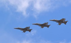 SPANISH HORNETS DOING A FLYBY OVER LAS PALMAS AIRPORT (vivcarfilm) Tags: las airport spain force air over doing hornets flyby palmas a