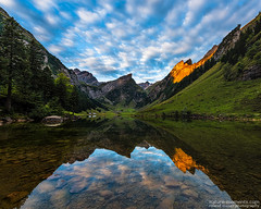 Ruhe & Harmonie (naturemomentsphotography) Tags: reflections see wolken bergsee spiegelung appenzell fineartphotography sntis alpstein seealpsee fineartprints naturemoments rolandmoser