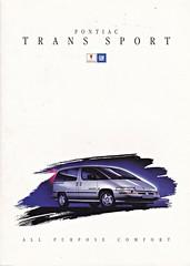 Pontiac Trans Sport brochure 1993 (sjoerd.wijsman) Tags: auto cars car voiture 1993 vehicle pontiac brochure fahrzeug folleto prospekt transsport pontiactranssport carbrochure opuscolo brochura broschyr autobrochure gm1993