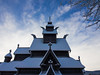 Gol new stave church (Torstein Hansen) Tags: old winter sky snow church norway architecture no gol buskerud