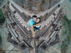 Temple climbers in Bagan