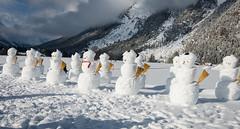 K_075  Schneemnner  Snowmen (wenzelfickert) Tags: schnee trees winter sky snow mountains forest landscape austria tirol sterreich himmel berge snowmen alpen landschaft wald bume schneemnner leutasch karwendelgebirge