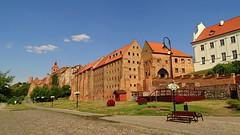 Grudzidz... (JoannaRB2009) Tags: street old city blue summer sky nature architecture buildings landscape colours view poland polska sunny historical walls granary citiscape teutonic graudenz granaries grudzidz