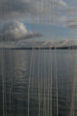 Rain Streaked Window (sarahbethsmithphotography) Tags: abstract window nature water ferry clouds bluesky pugetsound streaks dirtywindow lookthrough