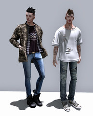 You do me wrong but still I'm crazy bout you. (Levi Megadon // *OMG*) Tags: street new old urban men look field fashion shirt ink vintage hair skinny blog outfit clothing cool mesh boots coat ripped hipster style sneakers wear sl jeans event jacket secondlife mens denim washed tight tee exclusive loose stylish baggy lotd cuffed fitted flite n21 spiritstore drot lawne rawhouse ronsem amitomo ntwentyone ar2style