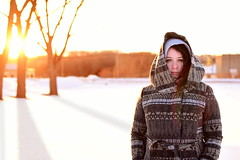 Day One Hundred Twenty Eight (fotoJared) Tags: winter light sunset portrait woman snow cold ice girl minnesota gold nikon 365 february mn 365project fotojared