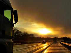 Sonnenuntergang 24.02.2016 (MediothekKrefeld) Tags: road sun sonnenuntergang sundown strasse autobahn sonne