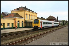 NMBS SNCB 4141 Leopoldsburg 13042014 (W. Daelmans) Tags: train diesel railway alstom trein spoorweg nmbs leopoldsburg sncb ar41 mw41
