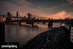 Southwark Sunrise (Alex Chilli) Tags: city longexposure morning bridge london water thames sunrise river southwark ndfilter