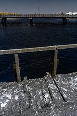 IMG_1623s (francois f swanepoel) Tags: wood sea lighthouse water lunch concrete bridges perspectives capetown infrared restoration brug naval atlanticocean guano milnerton beton 1960 westerncape woodbridgeisland atlantieseoseaan ligtoring