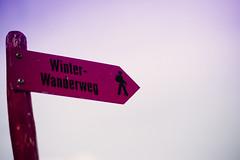 Pink Track (donlunzo16) Tags: city pink blue sky color film sign lens schweiz switzerland town nikon df track raw nef path pack filter nd nikkor 58mm vignette afs lightroom 2x lenzerheide valbella f114 preset vsco